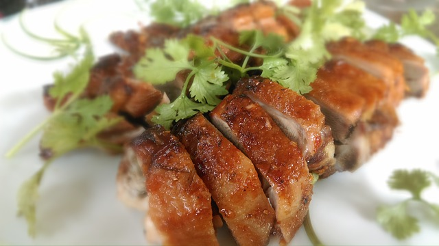 cooked duck with spices