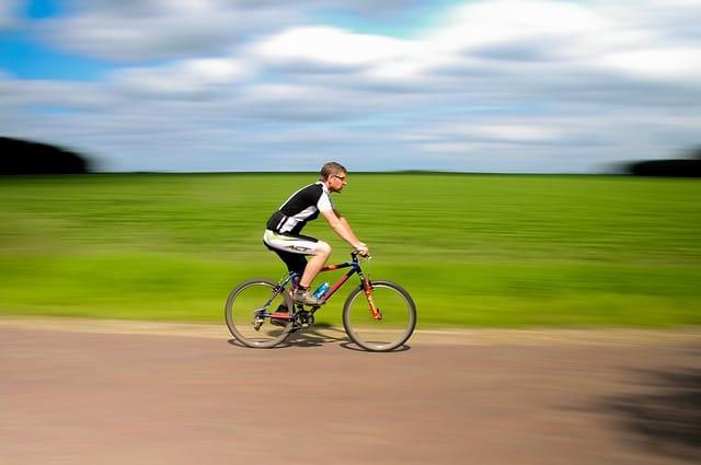 guy riding bike