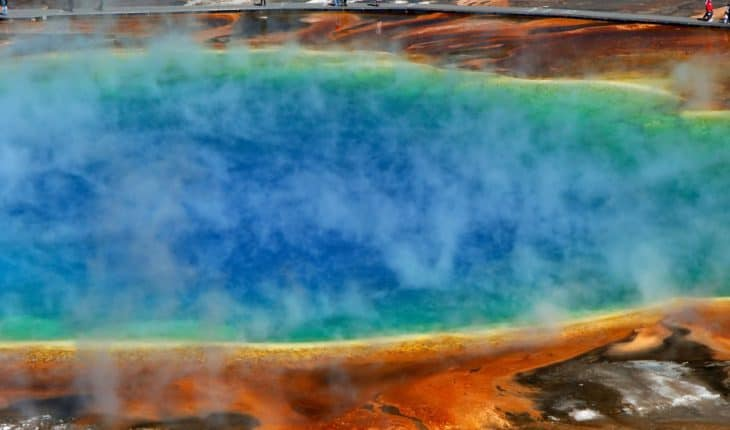 sulfur gases on lake