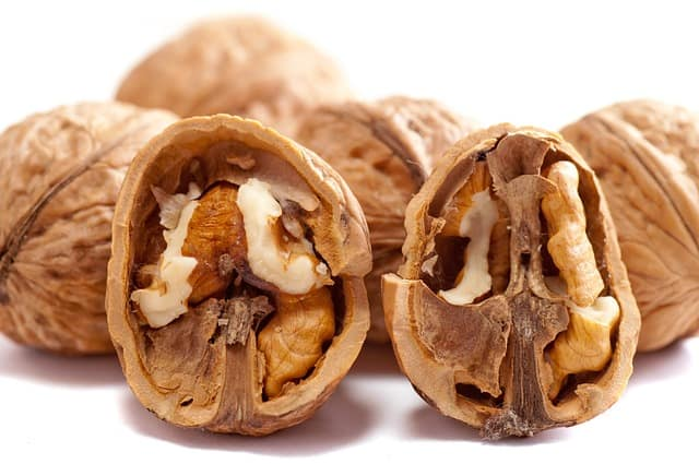 halved walnuts