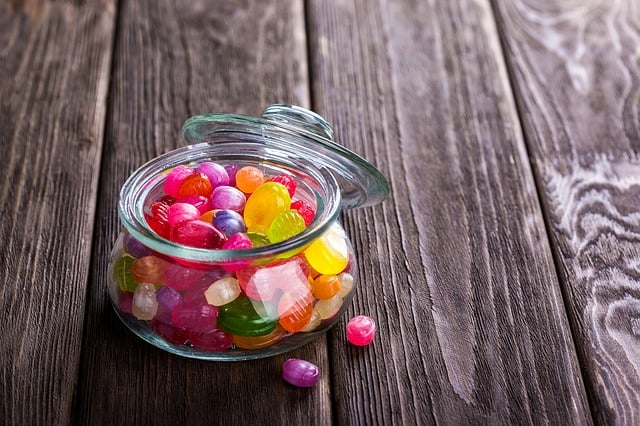colorful candy in bowl