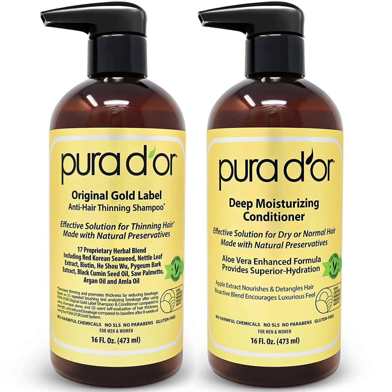 pura d'or shampoo and conditioner set