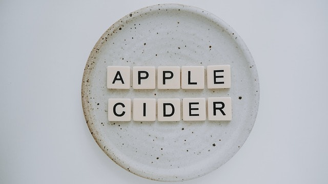 apple cider in letters