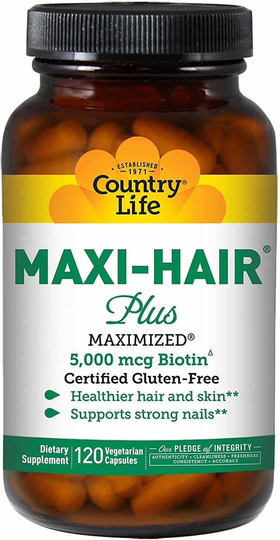 Maxi-Hair plus, 120 count bottle